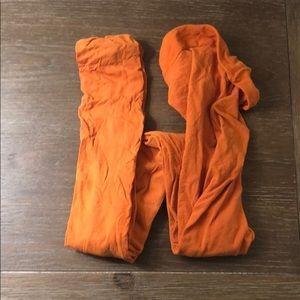 Halloween orange tights